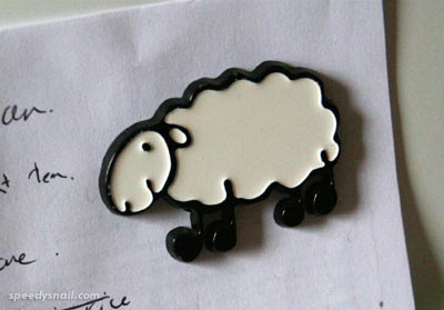 Basque sheep fridge magnet