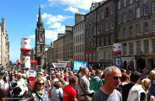 Royal Mile during the Fringe, August 2012