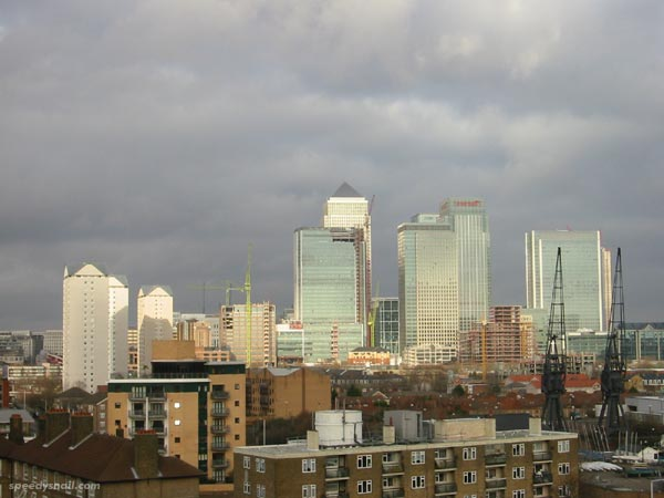 Canary Wharf, December 2002
