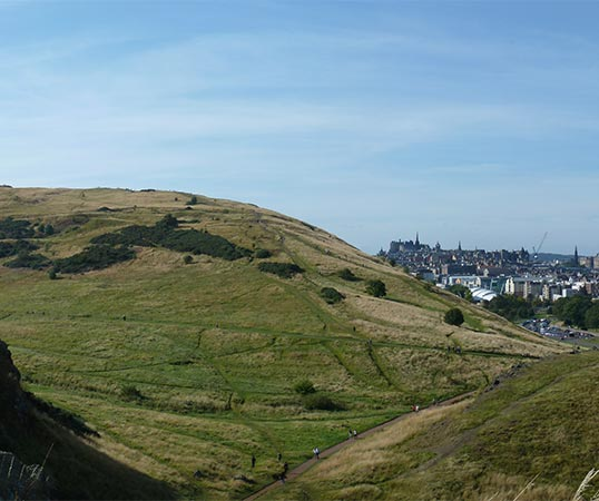 Edinburgh view from Arthur's Seat