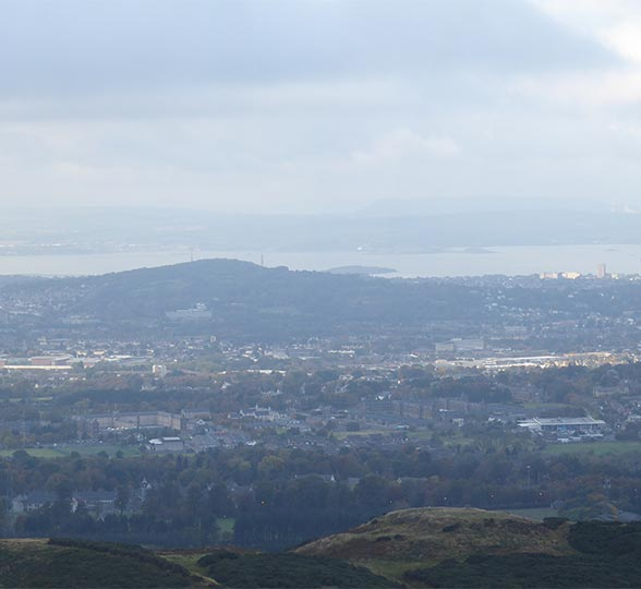 Edinburgh view from the Pentlands