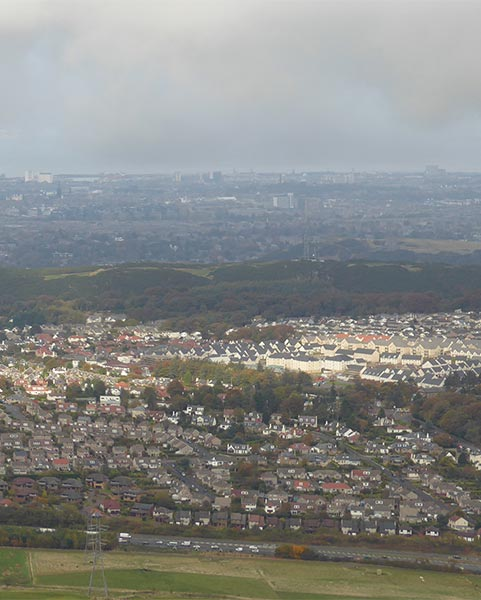 South Edinburgh view from the Pentlands
