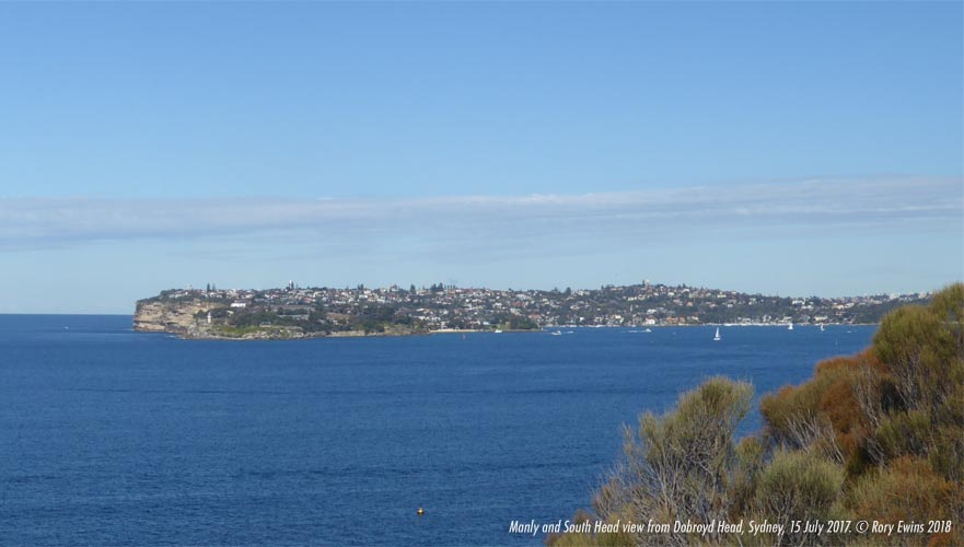 Manly and South Head View from Dobroyd Head, Sydney, New South Wales