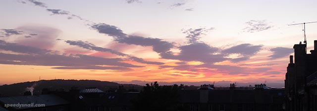 Sunset over Corstorphine Hill, 24 May 2020